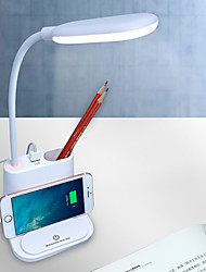 cheap -Multifunctional Desk Lamp with USB Port for Mobile Phone Pen Container Mini Fan Rechargeable Eye Protection  Modern Contemporary Built-in Li-Battery Powered DC 5V Light Pink White