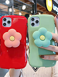 cheap -Case For Apple iPhone 11  11 Pro 11 Pro Max Xiaoman waist big red bean green Small daisy stand Gloss Solid TPU material  scratch proof phone case