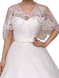 cheap -Sleeveless Basic Lace Wedding Shawl & Wrap With Lace