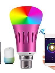 Недорогие -1шт 9 W Круглые LED лампы Умная LED лампа 700 lm E14 B22 E26 / E27 30 Светодиодные бусины Контроль APP Smart синхронизация Multi-цветы 85-265 V