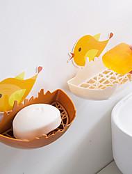 Недорогие -милый мультфильм курица мыльница без штамповки сливной мыльница туалет настенный ящик для хранения мыльница