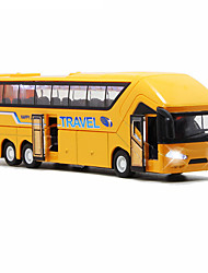 cheap -1:50 Toy Car Model Car Pull Back Vehicle Bus Bus Travel Music & Light Pull Back Vehicles Metal Alloy Mini Car Vehicles Toys for Party Favor or Kids Birthday Gift 1 pcs