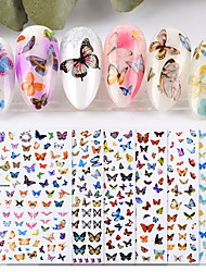 cheap -6 Sheet New Nail Art Self-adhesive Nail Sticker Tip Decal Decoration Cartoon Cute Butterfly Design DIY Manicure Accessories Tool
