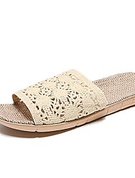 cheap -Women's Slippers House Slippers Stylish / Casual Fabric Shoes