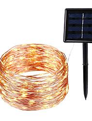 Недорогие -ip65 led открытый солнечный свет лампы строки 10 м 100 светодиодов сказочный праздник рождественская вечеринка гирлянда солнечный сад декор освещение