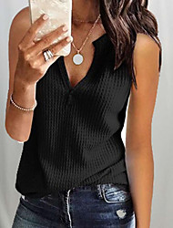 cheap -Women's Solid Colored Blouse Daily Wine / White / Black / Blue / Yellow / Blushing Pink / Navy Blue / Gray