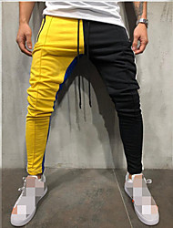 cheap -Men's Joggers Jogger Pants Track Pants Sports Pants Sweatpants Athletic Athleisure Wear Bottoms Pocket Drawstring Cotton Running Active Training Jogging Training Breathable Moisture Wicking Soft Sport