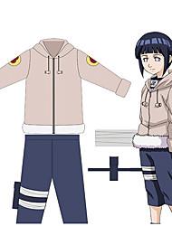 cheap -Inspired by Naruto Hyuga Hinata Anime Cosplay Costumes Japanese Outfits Coat Pants Bag For Men's Women's / 1 Bundle
