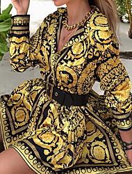 Недорогие -женская рубашка с цветочным принтом