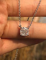Недорогие -1 карат Синтетический алмаз Цепочка Сплав Назначение Жен. Принцесса вырезать Простой Роскошь Элегантный стиль Свадьба Свадьба Вечерние Официальные Высокое качество Пасьянс
