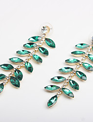 cheap -Women's Hoop Earrings Classic Love Classic Vintage Imitation Diamond Earrings Jewelry Green For Party Carnival 1 Pair