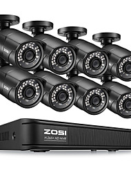 cheap -ZOSI H.265 Compression 8CH 1080P Plug & Play PoE NVR Security System with PoE Waterproof IP67 Nightvision 30M Outdoor Security CCTV IP Camera