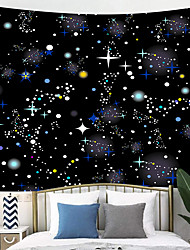 cheap -Outer Space Planet Moon Earth Stars Wall Hanging Wall Tapestry Home Art Decor Wall Decor for Kids Babys Children Bedroom Rooms Ceiling Living Room. Nursery School.