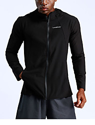 cheap -Men's Sports Fall Regular Coat, Solid Colored Stand Long Sleeve Polyester Black