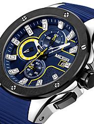 Недорогие -Megir мужские часы военные армейские часы суб-циферблат силиконовые водонепроницаемые кварцевые наручные часы