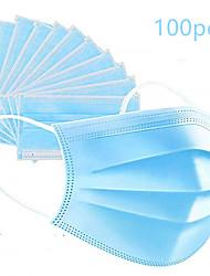 Недорогие -100 pcs Лицевая маска Защита Нетканые Ткань выдувной фильтр LITBest CE Сертификация Плотное облегание Устойчив к образованию пятен Складной Синий