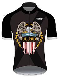 Недорогие -21Grams Муж. С короткими рукавами Велокофты Черный / красный Животное Американский / США Eagle Велоспорт Джерси Верхняя часть Горные велосипеды Шоссейные велосипеды / Эластичная / Быстровысыхающий