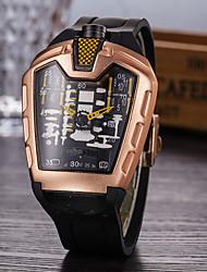 Недорогие -Муж. Повседневные часы Модные часы Уникальный творческий часы Кварцевый силиконовый Черный Защита от влаги Календарь Повседневные часы Аналого-цифровые На каждый день Стиль ствола -