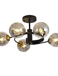 cheap -feimiao 5-Light 57 cm Sputnik Design Chandelier Metal Glass Painted Finishes Modern / Nordic Style 110-120V / 220-240V