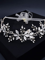 cheap -Vintage Fashion Imitation Pearl / Cubic Zirconia / Alloy Headbands with Rhinestone / Crystals / Lace-up 1pc Wedding / Party / Evening Headpiece