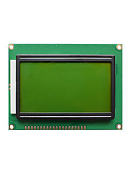 cheap -Yellow and Green Screen LCD12864 LCD Screen With Backlight 128645V Parallel Port Serial Port 12864B