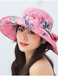 cheap -Hiking Hat Fishing Hat Fisherman Hat Hat 1 PCS Portable Sunscreen UV Resistant Breathable Floral / Botanical Polyester Autumn / Fall Spring Summer for Women's Camping / Hiking Hunting Fishing Fuchsia