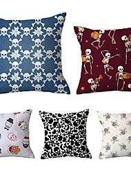 cheap -Set of 5 Throw Pillow Simple Classic 45*45 cm Velvet Pillow Cover Floral Art Deco Geometic Artistic Modern Contemporary