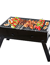 cheap -Thickened Folding Household BBQ Grill Outdoor Portable Barbecue Stove Cen Chi Black Steel Stove