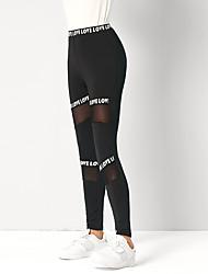 cheap -Women's Legging High Waist Patchwork Words Pant