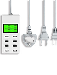 Недорогие -Yc-cda6 usb многопортовая зарядное устройство жк-цифровой дисплей мобильного телефона планшет универсальный разъем для зарядки интеллектуальный