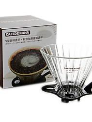 Недорогие -ручной заваренный кофе утолщенный стеклянный фильтр капельного типа капельного бытовой воронка время фильтр чашка 12x10 см