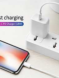cheap -Original 18W PD QC4.0 3.0 Fast Charger for Apple iPhone 12 Pro Max 12Mini iPhone 11 Pro iPhone 8 Plus XR XS Max iPad Air iPad Pro mini USB Type-C Quick Charge Travel Adapter