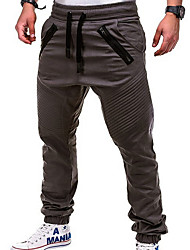 cheap -Men's Basic Loose Jogger Pants Solid Colored Full Length White Black Khaki