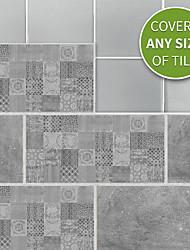 Недорогие -20x10cmx9pcs серый цемент кирпичные стены стикеры ретро маслостойкие водонепроницаемые плитки обои для кухни ванная комната земля стены украшения дома