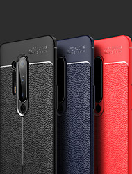 cheap -Case For OnePlus OnePlus 8 / OnePlus 8 Pro Ultra-thin Back Cover Solid Colored PU Leather / Silicone
