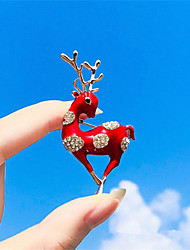 cheap -Women's Brooches Hollow Out Flower Fashion Brooch Jewelry Red Blue White For Gift Daily
