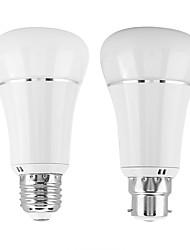 Недорогие -1шт 7 W Круглые LED лампы Умная LED лампа 700 lm B22 E26 / E27 30 Светодиодные бусины Контроль APP Smart синхронизация Multi-цветы 85-265 V