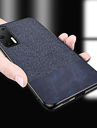 cheap -Luxury Cloth Fabric PU Leather Case For Huawei P40 Pro P40 Lite P Smart 2019 V30 Pro Honor 20 Pro P30 Lite P20 Lite Honor 9X Mate 30 Pro Y5 Y7 Y9 Y6 2019 Soft TPU Edge Hard Cloth Protective Back Cover