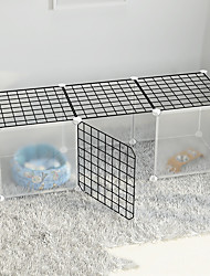 cheap -Dog Playpen Play House Fence Systems Foldable Washable Durable Free Standing Metal Black 11pcs
