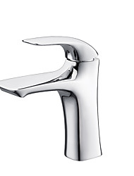 cheap -Bathroom Sink Faucet - Waterfall Single Hole Bathroom Faucet Chrome Finish Lavatory Basin Sink Mixer Tap Modern