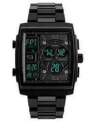Недорогие -Skmei 1274 мужчины спортивные часы мужские кварцевые цифровые часы часы 3 таймер обратного отсчета лучший бренд на открытом воздухе моды наручные часы