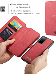 cheap -CaseMe Luxury Leather Magnetic Flip Phone Case For Samsung Galaxy A52 A72 S21 S20 Plus S20 Ultra Note 20 10 Plus S10 Plus S9 Plus S8 Plus S10 S9 S8 Wallet Card Slot Stand Detachable Cover
