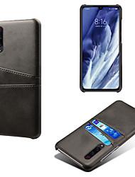 Недорогие -чехол для телефона для xiaomi mi 9 / 9t / cc9 / cc9e держатель карты против падения задняя крышка сплошной цвет pu кожа для redmi k20 / k20 pro