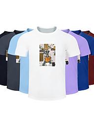 cheap -Men's Women's Running T-Shirt Workout Shirt Round Neck Running Active Training Jogging Breathable Quick Dry Moisture Wicking Sportswear Dog Plus Size Tee / T-shirt Top Short Sleeve Activewear
