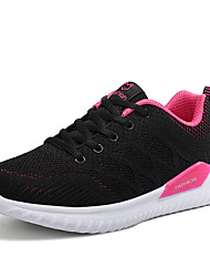 cheap -Women's Flats Flat Heel Round Toe Tissage Volant Casual Walking Shoes Spring &  Fall / Spring Black / Red / Purple / Black / Color Block