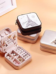 cheap -Women Jewelry Box Organizer Ladies Travel Case Earring Ring Necklace Storage Boxes