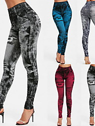 cheap -Women's High Waist Yoga Pants Pocket Leggings Butt Lift Quick Dry Black Dark Red Burgundy Gym Workout Running Fitness Plus Size Sports Activewear High Elasticity Skinny