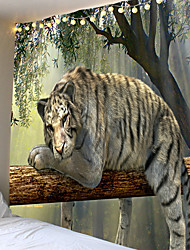 cheap -The tree there is a lovely tiger animal series tapestry or background cloth or decorative cloth