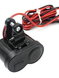 Недорогие -5v мотоцикл автомобильное зарядное устройство / USB зажигалка с переключателем и прикуривателем / черный / материал для защиты окружающей среды / простая установка