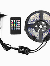cheap -16.4ft LED Light Strips RGB Tiktok Lights SMD 5050 150leds 10mm Tape Light Waterproof Color Changing Flexible Rope Strips Lights Kit DC 12V Powered with 20 Key Music IR Remote for Home Bedroom Lightin